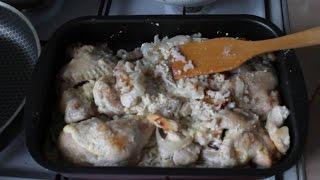 Курица с рисом в духовке ♥