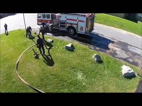 """Worcester MA Fire Department: Deck Gun Training with Engine 8, """"The Ocho"""""""