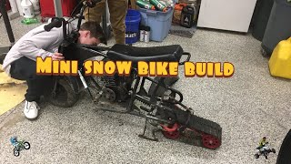 Snow bike build in mini dirtbike + Quad riding on raptor 250