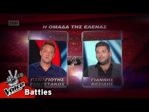 Π. Ρεντετάκος vs Γ. Κεσίδης - Κάτω απ΄ το πουκάμισο μου  | 1o Battle | The Voice of Greece