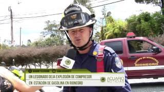 Un lesionado deja explosión de compresor en  estación de gasolina en Rionegro