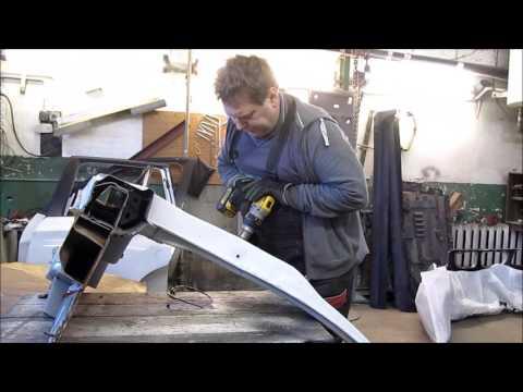 BMW X3.  The side repair of the car. Ремонт бока машины.