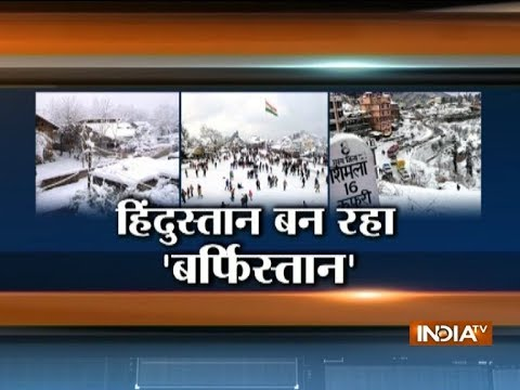 Intense cold conditions in Himachal, Shimla after snowfall