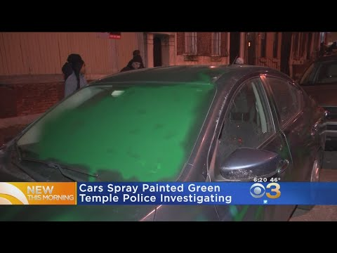 11 Cars Spray Painted Green In North Philly Following Eagles' Win