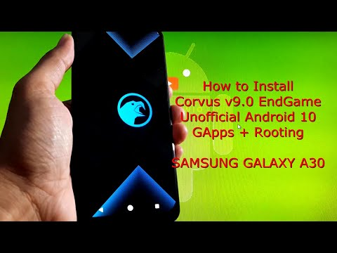 Samsung Galaxy A30: Corvus v9.0 EndGame Unofficial Android 10