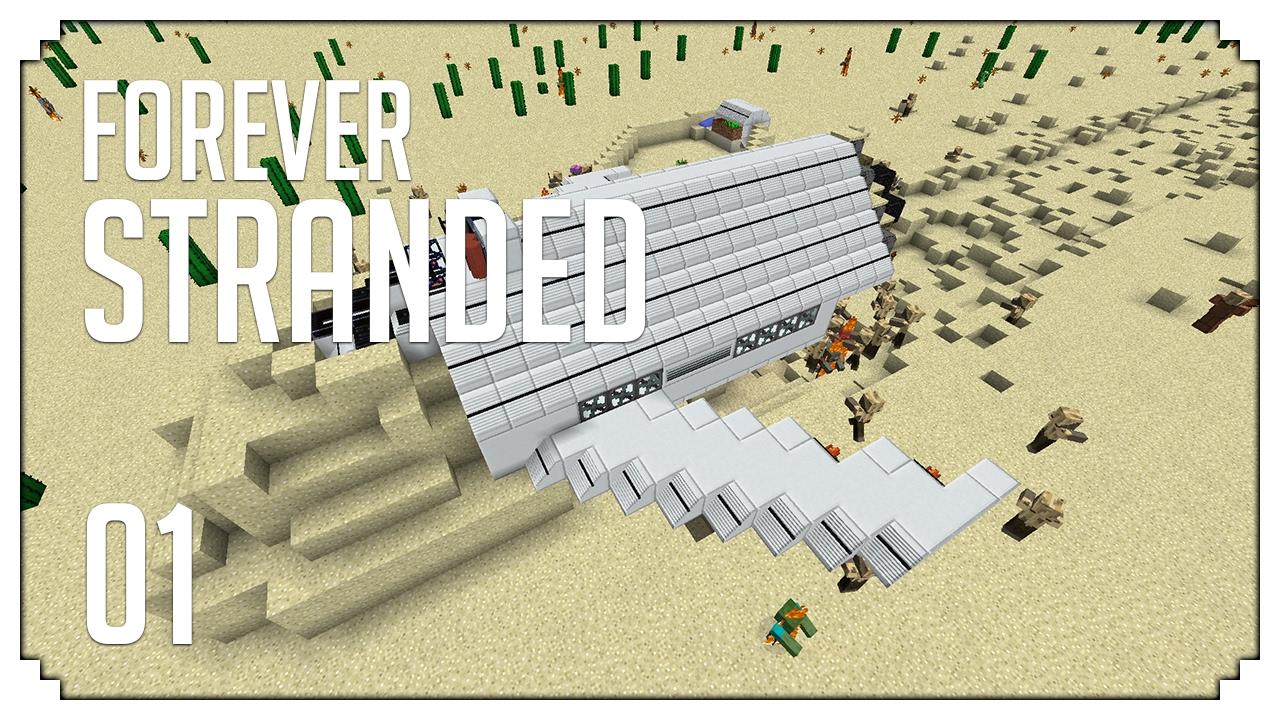 ►Forever Stranded: CRASH LANDING SEQUEL! (Modded Minecraft #1)◄ | iJevin