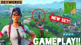 *NEW* Fortnite Battle Royale Maven Skin Gameplay! (Calculator Crew Set Gameplay and Review!)