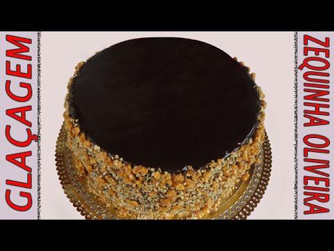 Cobertura de Chocolate para Bolos (Glaçagem) passo a passo