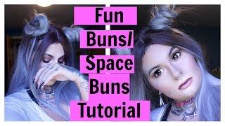 FUN BUNS/SPACE BUNS HAIR TUTORIAL ON WIG! | MARIAH MCLEAN