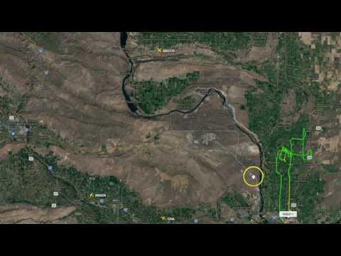 Current Wind Patterns Around Hanford Recon Flights Nuke Sniffer Airborne