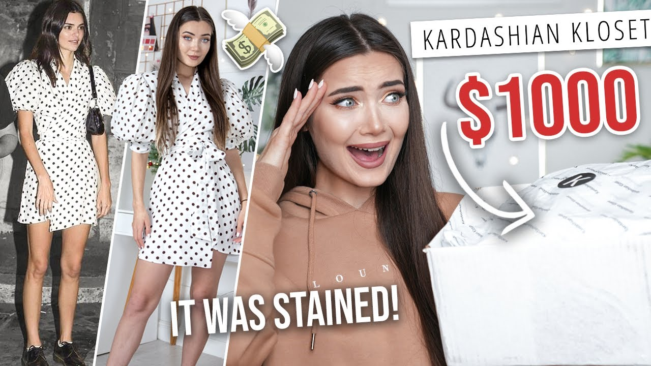 I SPENT $1,000 ON KENDALL JENNER'S USED CLOTHES... IT WAS STAINED!