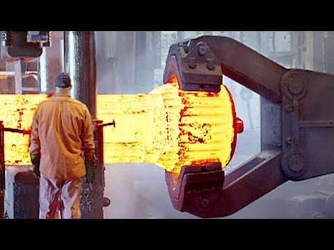 HYPNOTIC Video Inside Extreme Forging Factory Steel Pneumatic Hammer Mega Machine