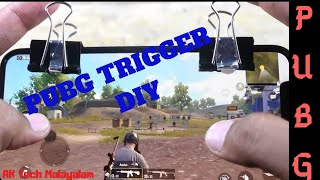 diy-How to make PUBG/Fortnite Fire trigger with binder clip | AK Tech Malayalam #PUBG ft.Hacktools