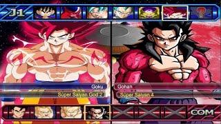 dragon ball z budokai tenkaichi 3 goku super saiyan god 2 vs gohan ssj 4 red potara 1080p