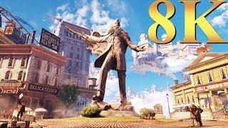 BioShock Infinite 8K Gameplay Titan X Pascal 4 Way SLI PC Gaming 4K | 5K | 8K and Beyond