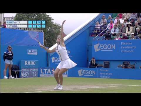 Elena Vesnina's semi-final victory over Yanina Wickmayer in the 2013 Aegon International