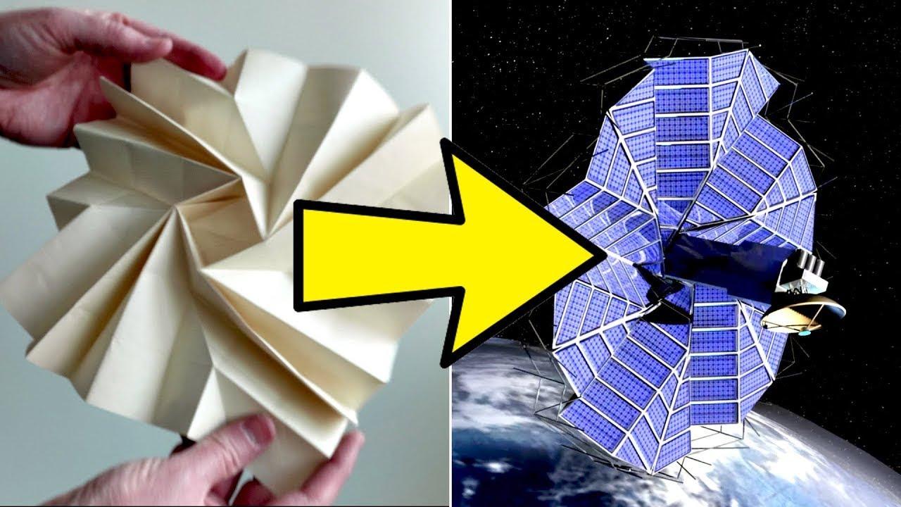 Cómo utilizan el Origami en el diseño Aeroespacial
