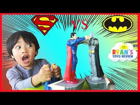 Batman Vs Superman Toys Dawn of Justice Batmobile Car Family Fun Game for Kids Ryan ToysReview