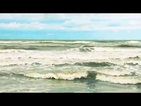 Foam Waves Music of Adriatic Sea in Italy