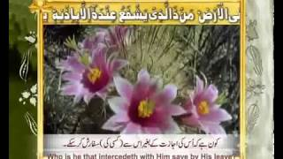 AYAT AL KURSI FULL WITH URDU AND ENGLISH TRANSLATION flv YouTube