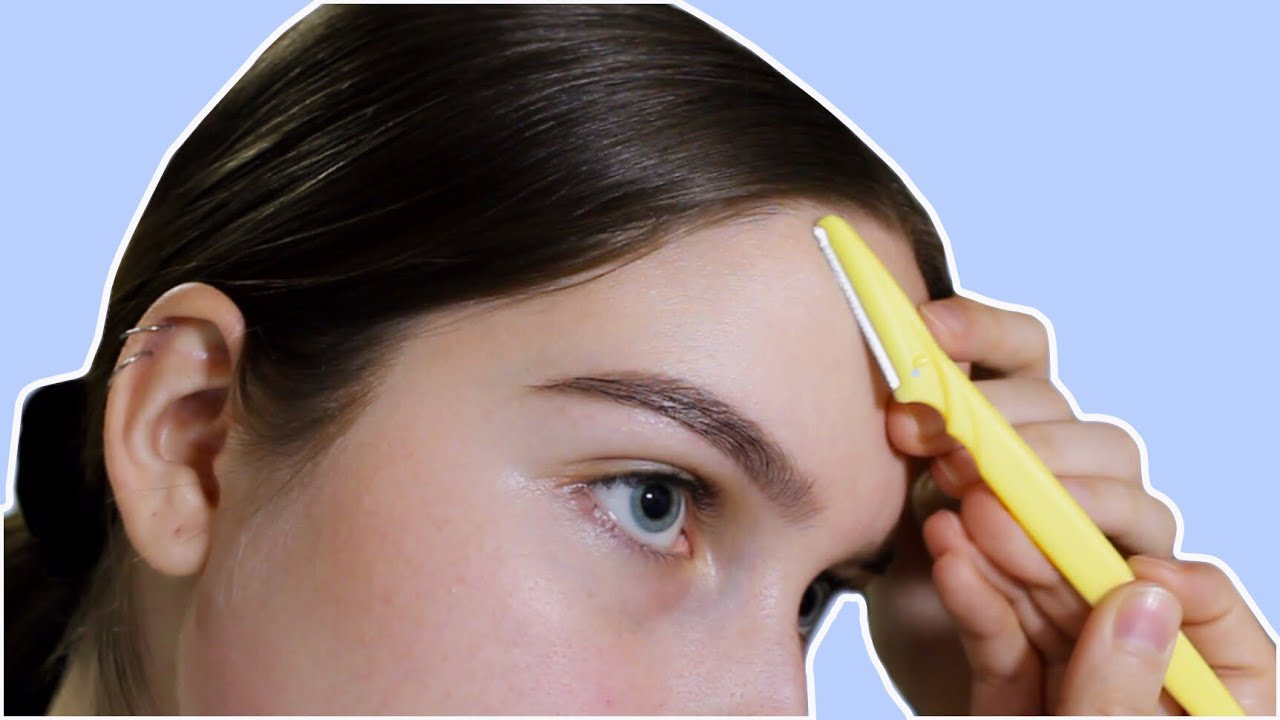 How To Remove Peach Fuzz + Baby Hairs - YouTube