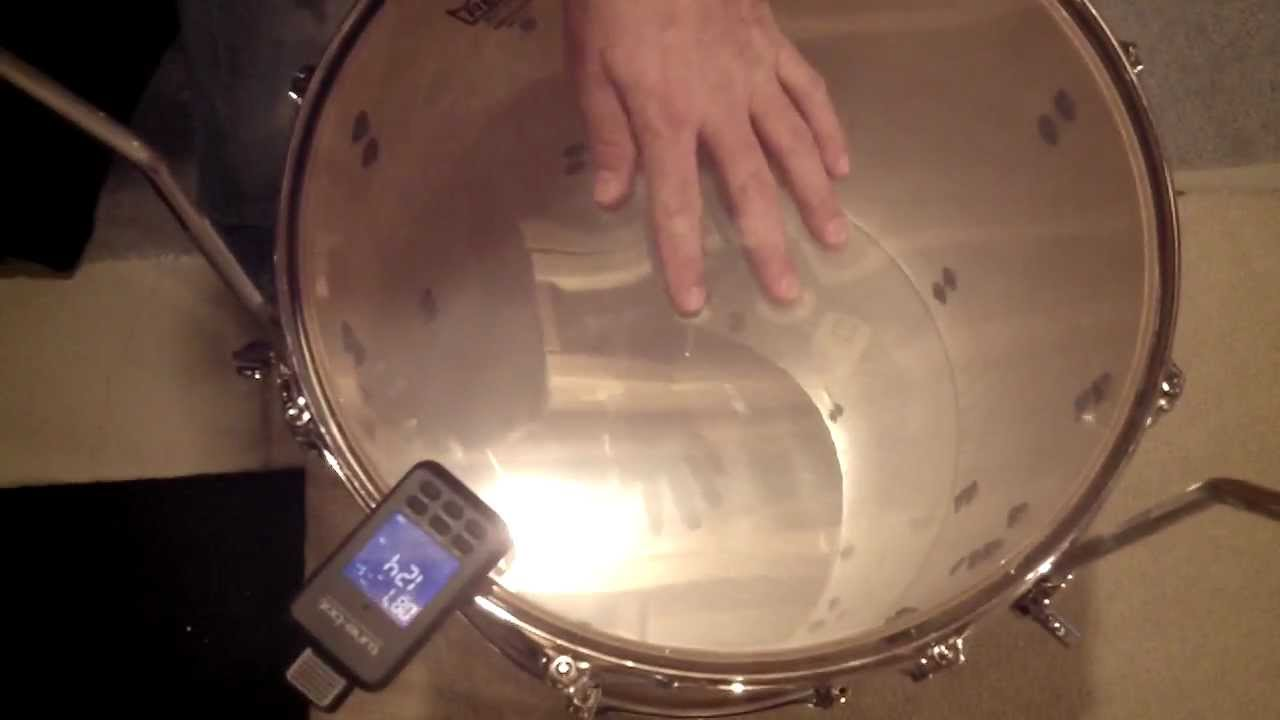 tuning a 16x16 floor tom with a tunebot
