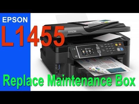 Epson L1455  Replace Maintenance Box (Easy)