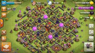 Clash Of Clans 4 Defences in a row in Master League