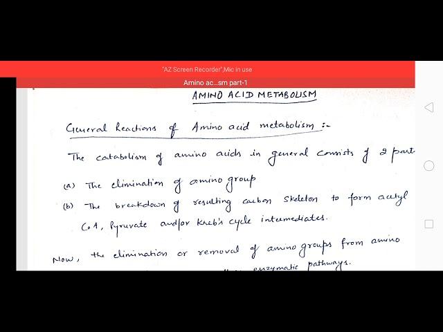 Amino acid metabolism by Amit Girdhar