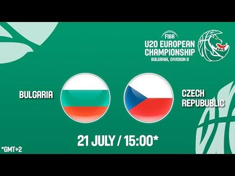 LIVE 🔴 - Bulgaria v Czech Republic - Class. Games 5-8 - FIBA U20 European Championship Div B 2018