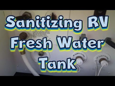 How to Sanitize Your RV Fresh Water Tank