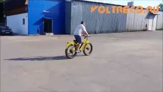 видео Электровелосипед WELLNESS BIGCAT DUAL