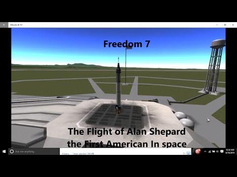 Model/Reenactment of Freedom 7 In Kerbal Space Program