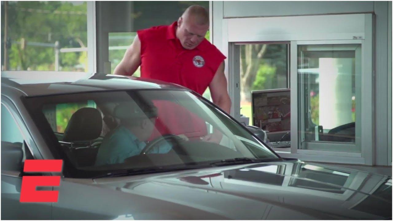 Brock Lesnars Day As An ESPN Security Guard | ESPN