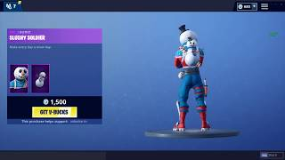 'NOUVEAU' SLUSHY SOLDIER SKIN (Fortnite Item Shop 13DÉCEMBRE)