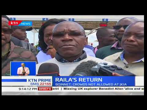 Police blocked NASA leaders from accessing the airport as the prepared for Raila Odinga
