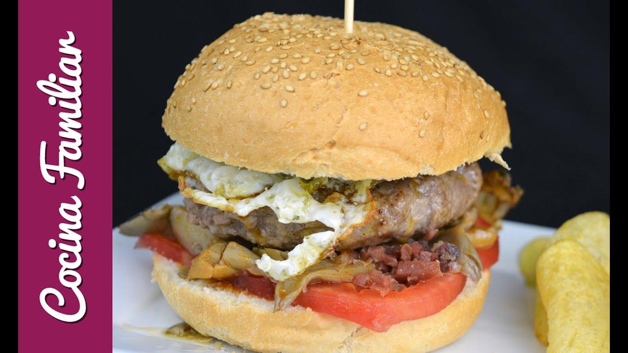 Hamburguesa casera de Cocina Familiar   Javier Romero - YouTube