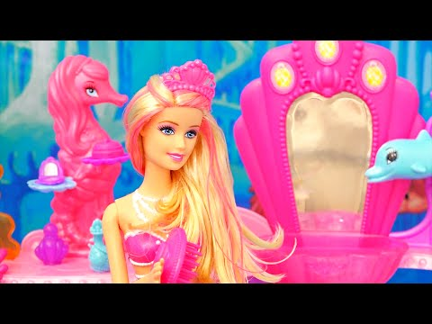 Thumbnail: Barbie Toys - Mermaid Doll and Beauty Salon from the Barbie Movie The Pearl Princess - Kid-friendly