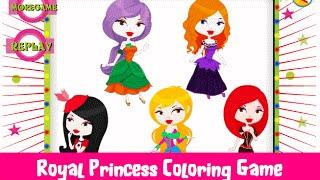 Royal Princess Dress up Coloring Educational Game - Learning Games