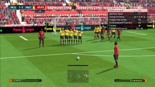 PES 2017 | Manchester United vs Watford | Full Match & Free Kick Goal | Gameplay PC