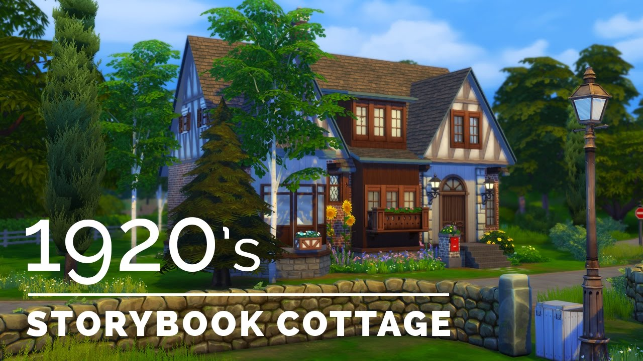 Sims 4 decade build series 1920s storybook cottage Build storybook