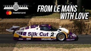 Screaming Le Mans winning Jaguar XJR-9 at FOS