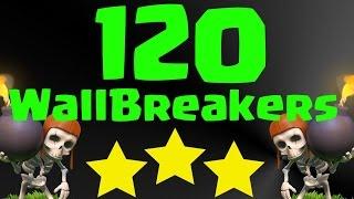 Clash of Clans 120 Wallbreakers 3 Star Trolling In Bronze League!!!