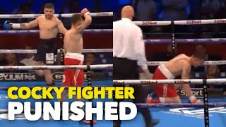 COCKY FIGHTER PUNISHED! 🙈 FLORIAN MARKU STOPS TOMMY BROADBENT AFTER BEING GOADED FOR ENTIRE FIGHT