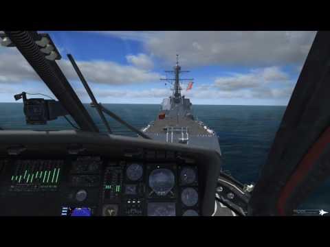 Prepar3D-Cera Sim UH-60L TPE→USS Kidd DDG-100