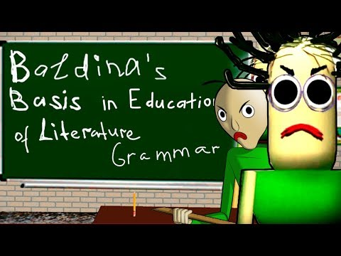 BALDI'S GIRLFRIEND?! - BALDINA'S BASIS IN EDUCATION LITERARY GRAMMAR [Brand New Game]