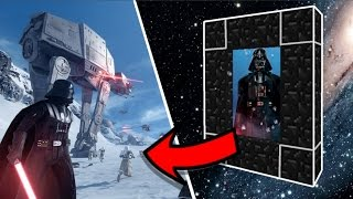 HOW TO MAKE A PORTAL TO THE STAR WARS DIMENSION IN MINECRAFT!!