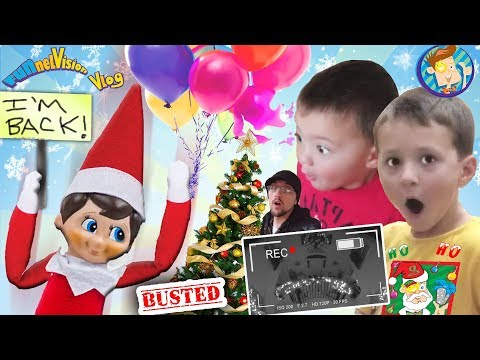 ELF ON THE SHELF RETURNS! CAUGHT MOVING! Who Buys Diseased Christmas Tree FUNnel Vision Buddy's B
