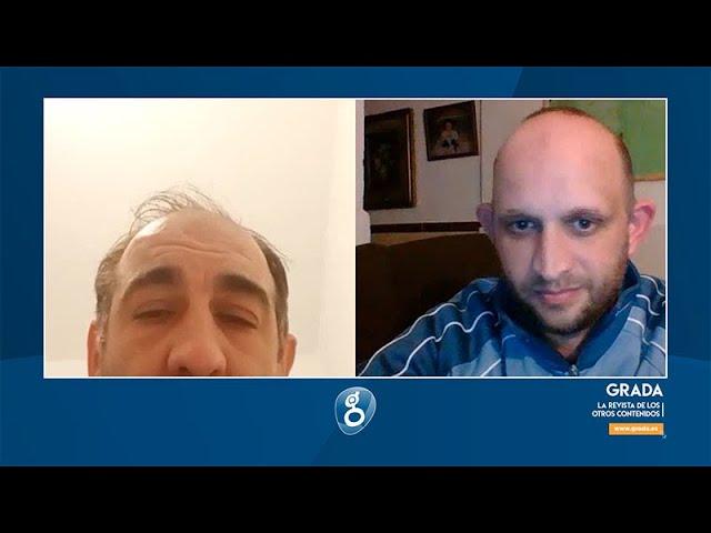 Entrevista a los representantes de la peña del Club Deportivo Badajoz 'ByN Guzmán Casaseca Lozano 7'
