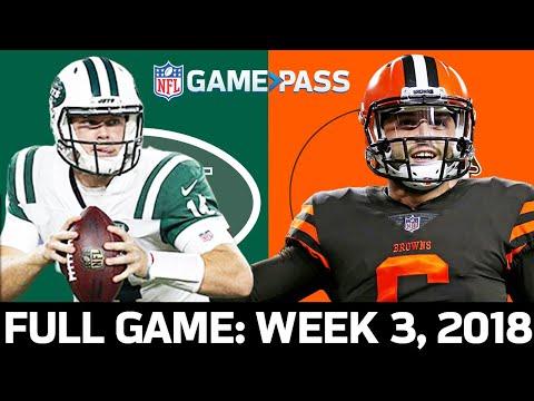 Jets vs. Browns Week 3, 2018 FULL Game